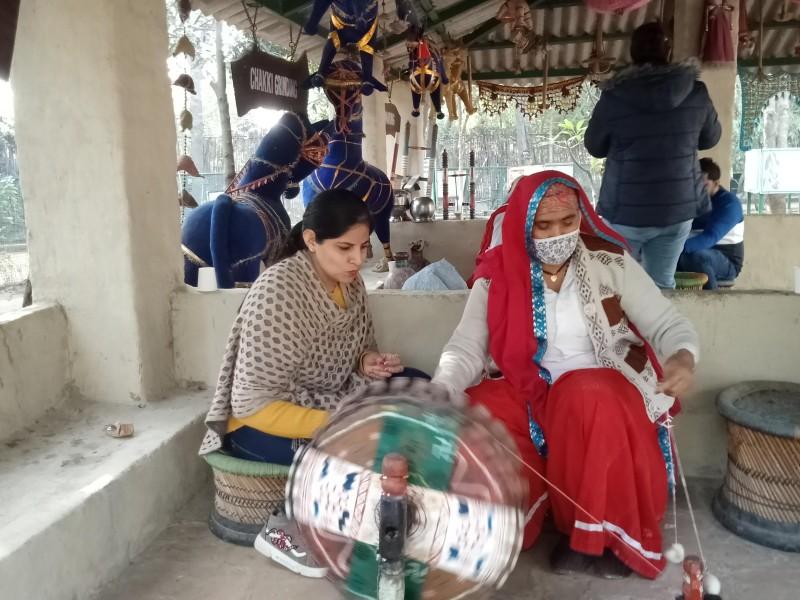 Charkha Spinning Pratapgarh Farms